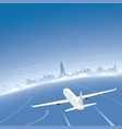 reykjavik skyline flight destination vector image vector image
