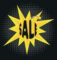 sale on bomb vector image vector image