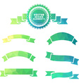 Set of geometric badge and ribbons vector image