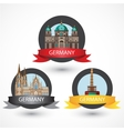 Set of most Famous German Landmarks High detailed vector image vector image