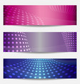 Set of three templates for disco party invitations