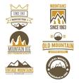Set of vintage logo emblem label print or vector image vector image