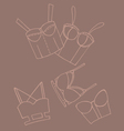 Set of women bra doodle underwear vector image vector image