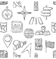 sketch seamless navigation pattern vector image