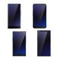 smartphones realistic set vector image vector image