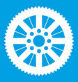 sprocket from bike icon white vector image vector image