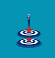 standing on arrow that pierced two targets vector image vector image