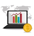 Stock market with statistics vector image