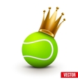 Tennis ball with royal crown of princess vector image vector image