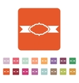 The label icon Ribbon symbol Flat vector image vector image