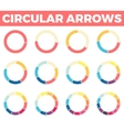 Thin circular arrows for infographics with 1 - 12 vector image vector image