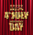 usa independence day greeting card vector image