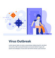 virus outbreak concept respiratory disease vector image