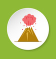 volcano icon in flat style vector image