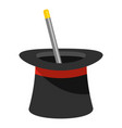 wand in hat icon cartoon style vector image