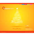 website christmas template vector image