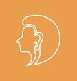 Woman Face Logo Design Template vector image vector image