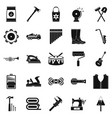 working gear icons set simple style vector image vector image