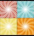 sun rays background set vector image