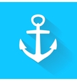 anchor icon in flat style with long shadow vector image