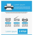 Flat minimalist template business design Gray vector image