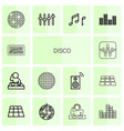 14 disco icons vector image vector image