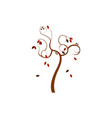 abstract dry falling autumn tree art design vector image vector image