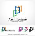 architecture logo template design vector image