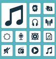 audio icons set collection of timbrel silence vector image vector image