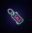 black friday neon signboard light label with text vector image vector image