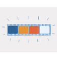 blank film strip over white vector image vector image
