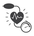 Blood pressure icon vector image