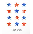 blue and red stars on white background vector image