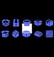 box flat icons vector image vector image