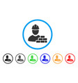 brick builder rounded icon vector image