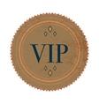 Brown VIP label label vintage style vector image