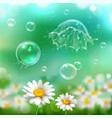 bubbles explosion realistic background vector image vector image