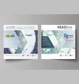 Business templates for square design brochure