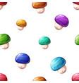 cartoon seamless pattern color mushroom vector image