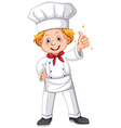 Chef in white uniform vector image vector image