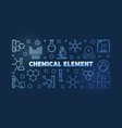 chemical element blue linear vector image