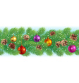 Christmas horizontal seamless vector image