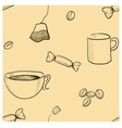 Coffee seamless vector image vector image