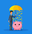 concept protection and saving money vector image