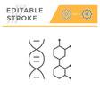 dna molecule line icon vector image vector image