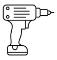 electric wireless drill icon outline style vector image vector image