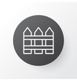 fence icon symbol premium quality isolated vector image