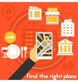Find The Right Place Concept vector image