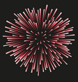 fireworks red on a black background vector image vector image
