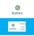 flat atoms logo and visiting card template vector image vector image